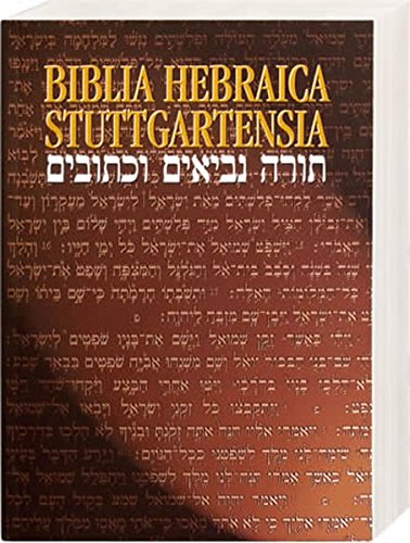 Biblia Hebraica Paperback par From Bible Society (The British and Foreign Bible Socie