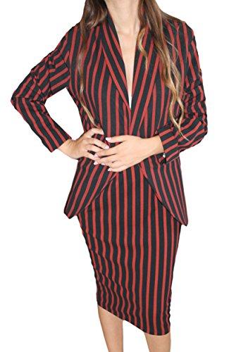 Artigli [:it tailleurs donna giacca + gonna completo rosso e nero invernale taglia 46[:en] tailleurs woman[:fr] tailleurs femme[:], rosso, 46