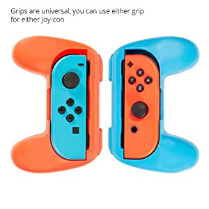 Orzly® - Twin Controller Grip Attachments for Nintendo Switch JoyCons (Please Select Your Grip Attachment Color Below…)