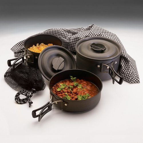 Texsport Black Ice The Scouter Hard Anodized Cook Set Leichtathletik, Übung, Training, Sport, Fitness - Texsport Black Ice