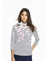 Joules Ladies Navy Blossom Stripe Harbour Print Jersey Top