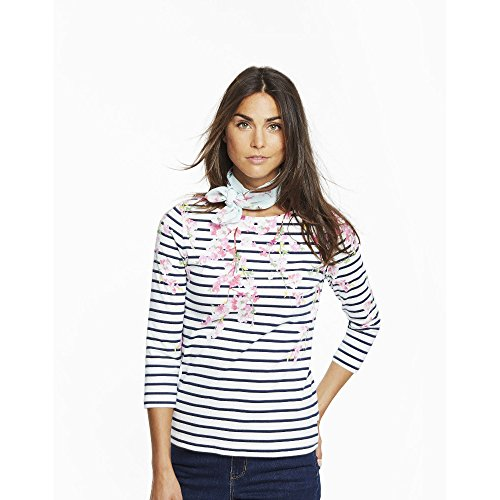 Joules Womens/Ladies Harbour Print Relaxed Fit 3/4 Sleeve Jersey Top (Sleeve 3/4 Sport Top)