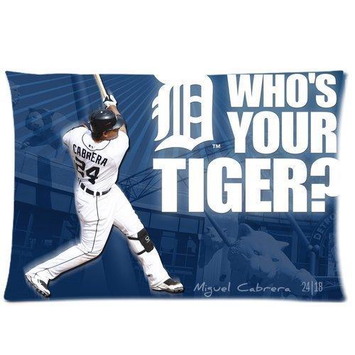 Miguel Cabrera Detroit Tigers béisbol personalizadas funda de almohada dos lados manta funda de almohada cubierta 16x 24Inchs por Beth o 'hare