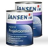 2 x Jansen Aqua Projektionslack 1l - Projektionsfarbe Leinwandfarbe Screenfarbe