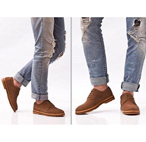 Nobili Uomini Scarpe Di Marea Camoscio Scarpe Popolari Scarso Per Aiutare Maglia Pizzo Traspirante Coreano Scarpe Singole Khaki