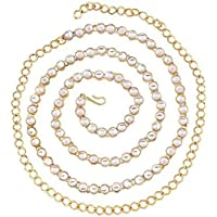 Project Luxe Beautiful Handcrafted Gold Polished Kamarband for Women and Girls - Waist Hip Chain