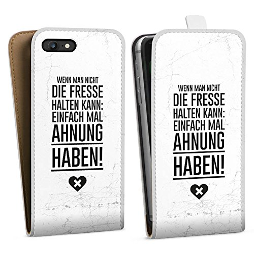 Apple iPhone X Silikon Hülle Case Schutzhülle Lustig Humor Sprüche Downflip Tasche weiß