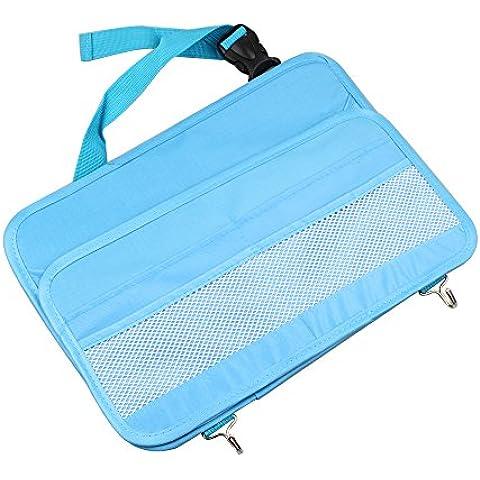HaoWorld Car Organizer Auto Toys Food Storage Container Bags Box Interior Back Seat Accessories (Blue)