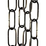 Lighting Pendant, Mirror or Picture Suspension Chain in Antique Brass Finish priced per 50cm
