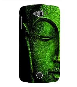 FUSON Buddha Statue Face Sleeping 3D Hard Polycarbonate Designer Back Case Cover for Acer Liquid Z630 :: Acer Liquid Zade Z630S