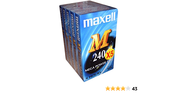 Maxell E 240 M Vhs Videokassetten 240 Min 5 Stück Elektronik