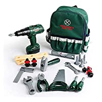 Beauenty 27 PCS Kids Tool Set for Toddlers Age 3 4 5 6 7 Year Old Boy Toys, Pretend Play Tool Set with Electronic Cordless Drill, Backpack and Construction Accessories, Lawn Tools Plastic Drill Toy