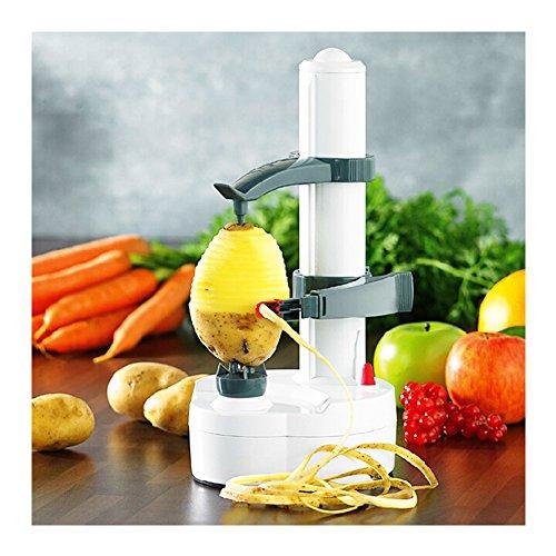 WMAOT Multifonction Éplucheur Automatique avec Adaptateur Cuisine Épluche Électrique pour Fruits et Légumes(Blanc)