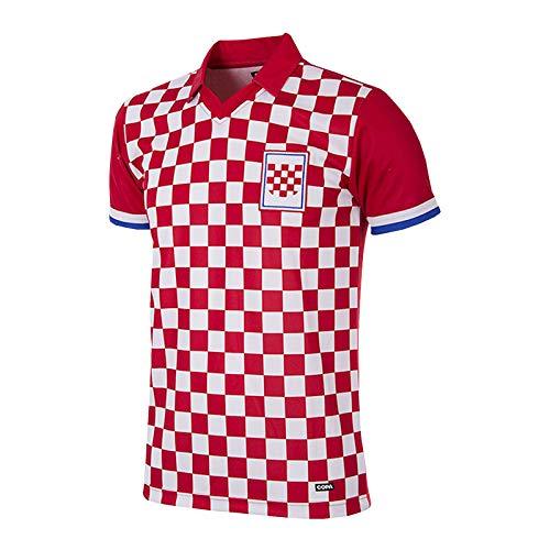 Copa Kroatien Retro Trikot 1992 rot-weiß rot-weiß, XL