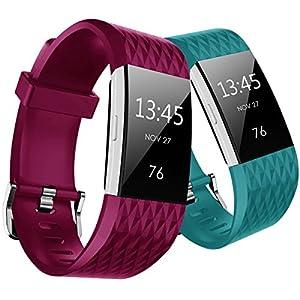 Hanlesi Fitbit Charge 2 Correa Edicion Especial Reemplazo Bandas TPU Soft