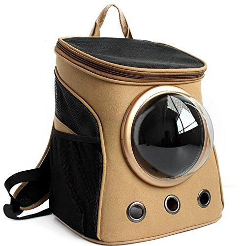 Pet Carrier Rucksack, atmungsaktiv Pet Leinwand Rucksack Blase Platz Kapsel Fluggesellschaft zugelassen Outdoor Wandern Camping Tasche für kleine Katze Puppy Hund (Car-hop-mädchen)