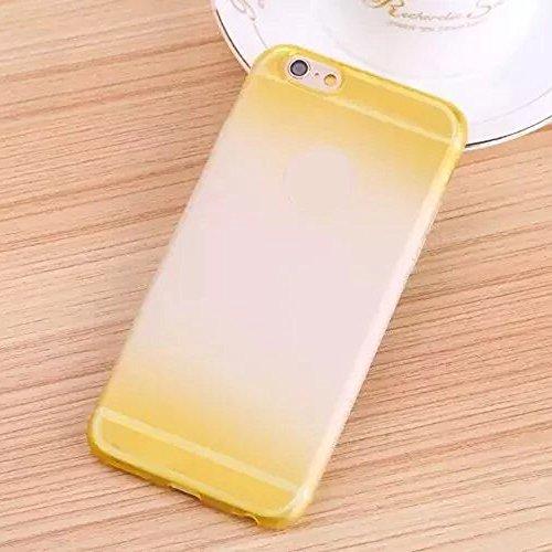 Cuitan Premium Quality TPU Doux Housse Case pour Apple iPhone 6 / 6s (4.7 Inch), Mode Gradient Givré Design Slim Protecteur Etui Case Coque Case Cover Housse pour iPhone 6 / 6s (4.7 Inch) - Rose Rouge Jaune