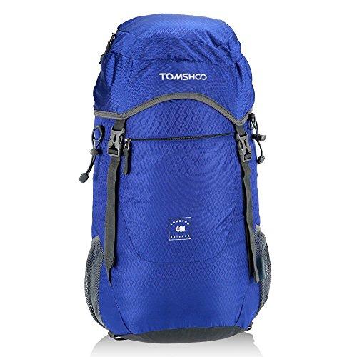 Imagen de tomshoo 40l  plegable impermeable bolsa ultra ligero de nylon para viajar trekking al aire libre