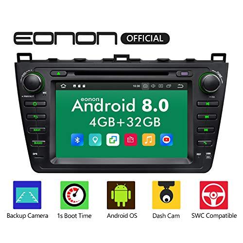 eonon Android 8 fit Mazda 6 2009 2010 2011 2012 20,3 cm (8 zoll) LCD Indash Car Digital Audio Video Stereo Autoradio Doppel Touchscreen DVD GPS Sat Nav Bluetooth USB SD FM AM RDS Headunit GA9198B - Mazda Radio 6