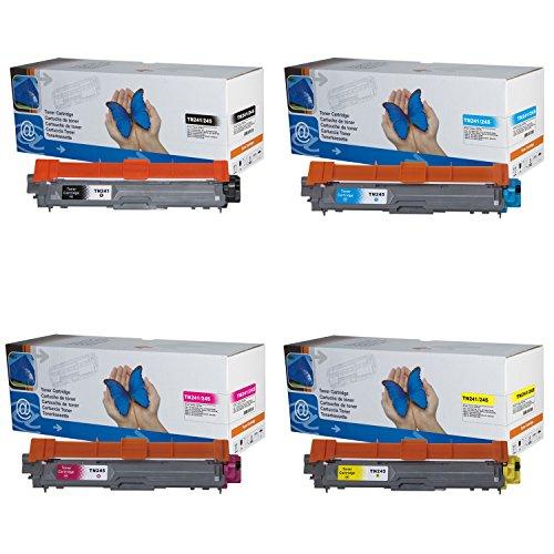4x Toner TN241/245 (B/C/M/Y) für Brother DCP-9020CDW, Brother HL-3140CW, HL-3150CDN, HL-3150CDW, HL-3170CDW, Brother MFC-9130CW, MFC-9140CDN, MFC-9330CDW, MFC-9340CDW