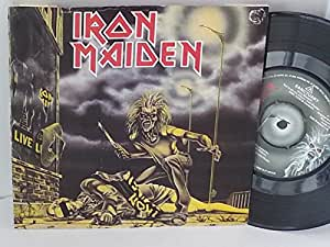 IRON MAIDEN sanctuary, censored Margaret Thatcher cover, 7 inch single, EMI 5065, censored margaret thatcher cover