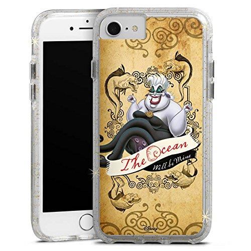 Apple iPhone 6s Bumper Hülle Bumper Case Glitzer Hülle Disney Arielle Die Meerjungfrau Ursula Geschenke Merchandise Bumper Case Glitzer gold