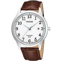 Pulsar Uhren PS9055X1 - Reloj analógico para caballero de cuero blanco de Pulsar Uhren