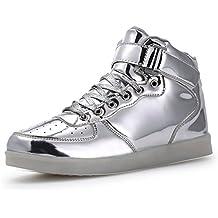 Zapatos LED, 7 Colores Iluminan hasta la Zapatilla de Deporte Hombres de Las Mujeres USB
