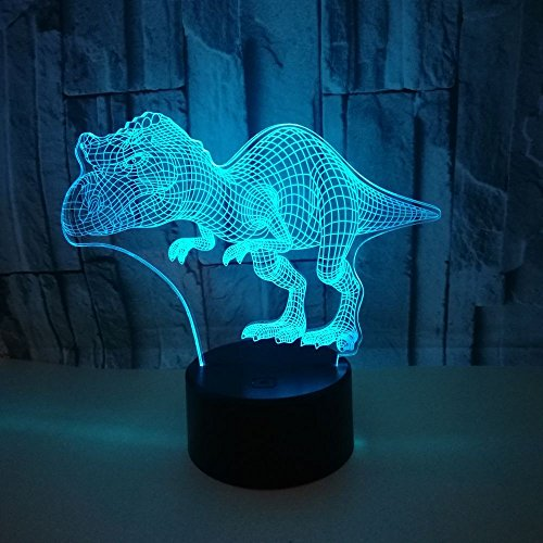 3D Dinosaurier Optical Illusions LED Lampen Tolle 7 Farbwechsel Berühren Tabelle Schreibtisch-Nacht Licht Mit USB-Kabel für Kinder Schlafzimmer Geburtstagsgeschenke Geschenk