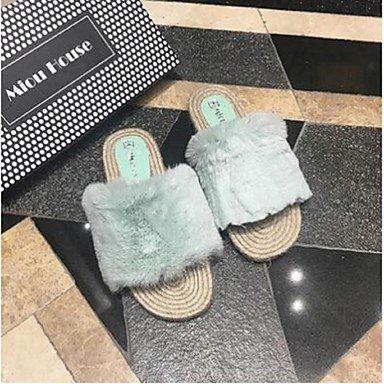 zhENfu donna pantofole & amp; flip-flops Comfort PU Casual Nero Blu Rosa Bianco Grigio Light Blue