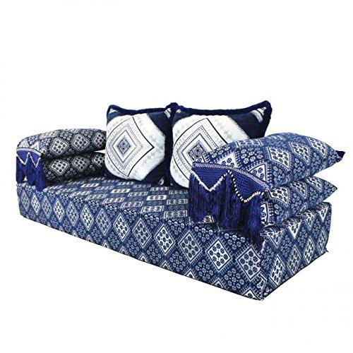 Casa Moro Orientalisches marokkanisches Sofa, Sitzkissen, Sitzecke, Sark Kösesi, Sitzgarnitur Amina Komplett gefüllt aus Marrakesch (Wohnzimmer Marokkanisches Möbel)