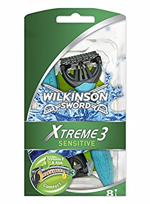 Wilkinson Sword Xtreme 3 Sensitive Men's Disposable Razors x8 by Energizer Group