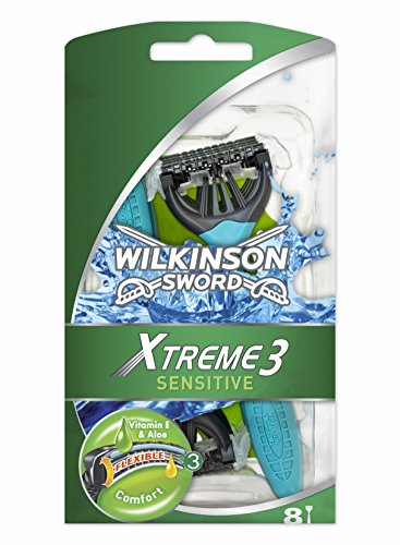 Wilkinson Sword Xtreme 3 Sensitive Men's Disposable Razors x8