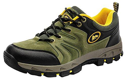Y-BOA Chaussures Randonnée Montagne Homme/Femme Sneakers Sports Vintage Basket Mode Lacet Casuel Vert