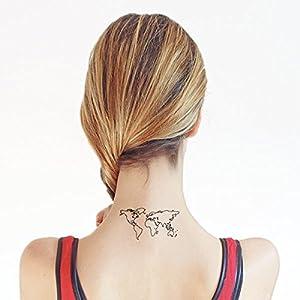 Weltkarte - 2 Temporäre Tattoos