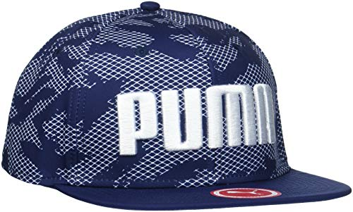 Puma Erwachsene Flatbrim Cap Kappe, Peacoat-Allover Print, Adult