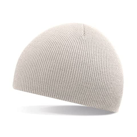 Beechfield - Unisex 100% Soft Feel Knitted Beenie Hat - 9 Colours Available (Stone Beige)