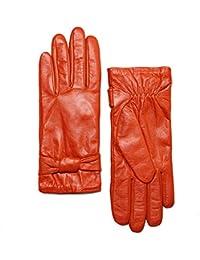 0d1edf64557 YISEVEN Guantes de cuero suave para mujer de invierno cálido Guantes de piel  de cordero 100