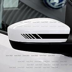 Isee360 2Pcs/Set Car Rearview Mirror Stickers Black Matte Decor Vinyl Sticker Decals Car Styling