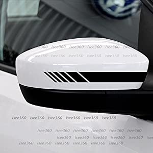 ISEE 360 ater Resistance Car Rearview Mirror Stickers for Mercedes Benz, Dye Cut (Vinyl PVC , Black)