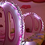 Zanflare 3M 400 Christmas Wedding Party Fairy String Light Lamp, Indoor Outdoor LED Globe Light with 8 Modes for Home, Garden, Wedding, Christmas, Party, Holiday Decoration (Pink+White)