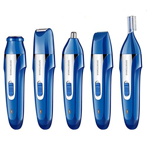 Nasen & Ohrenhaarschneider Augenbrauen Trimmer,3 in 1 Wasserdichter Bartschneider-Set, mit USB Elektrischer Wiederaufladbarer für Herren und Damen,Blue Die Blue Nose Freunde
