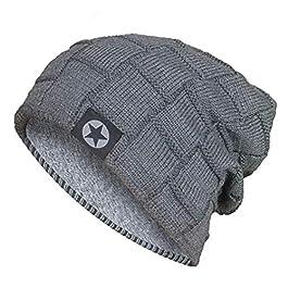 Acexy Cappello Lavorato a Maglia Caldo e Sciarpa Circolare Set Sciarpa all'aperto Beanie Skull cap per l'inverno