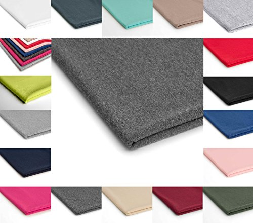 Dunkelgraue Sweatshirts (French Terry Polyester Stoff Jersey 50x180 cm - Verschiedene Farben (Dunkelgraue Melange Nr.13))