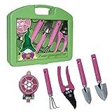 ''Mimi´s little Garden'' - Zwergzeugkoffer   Werkzeug Koffer Set Kinder   Werkzeugkasten   Geschenkidee für Kinder   Werkzeug pink   Geschenk für Frauen   Mädchen Werkzeugkoffer   Preis am Stiel
