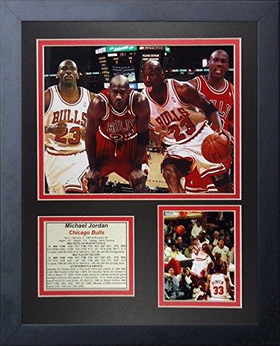 Legenden Sterben Nie Michael Jordan I gerahmtes Foto Collage, 11x 35,6cm