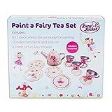 Lucy Locket Fairy Tale Kids Paint a Tea Set (13 Piece Tin Tea Set) Kids Craft Set