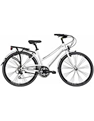 'Bicicleta Cicli Adriatica Boxter HP de mujer, estructura de aluminio, rueda de 28, Shimano 21 velocidades, talla 45, Bianco