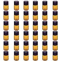 Milopon Ätherisches Öl Glasflaschen Aromatherapie Öl nachfüllbar Mini Glasfläschchen kleine Flasche (36pcs*2ml) preisvergleich bei billige-tabletten.eu
