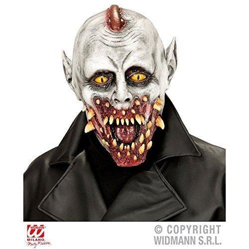 Übergroße Zombie Vampir Maske mit vielen Reißzähnen / Vollmaske / Halloween / (Vollmaske Zombie)